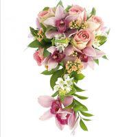 Свадебный букет с розами и орхидеями №46