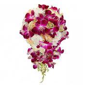 Свадебный букет невесты с розами и орхидеями №47
