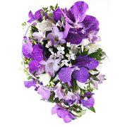 Свадебный букет невесты с орхидеями «Ванда» и фрезиями №51