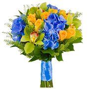 Букет с орхидеями и гортензией №55