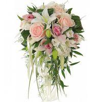 Свадебный букет с орхидеями и лилиями №56