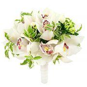 Свадебный букет невесты с белыми орхидеями №58