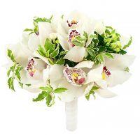 Свадебный букет с белыми орхидеями №58