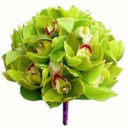 Букет с зелёными орхидеями №59