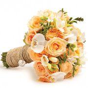Свадебный букет невесты с розами и орхидеями №62