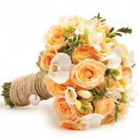 Свадебный букет с розами и орхидеями №62