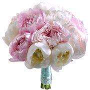 Букет с розовыми и белыми пионами №69