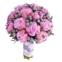 Букет с розовыми пионами №71