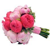 Букет с коралловыми и розовыми пионами №72