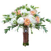 Букет с пионами и розой «Вувузела» №75