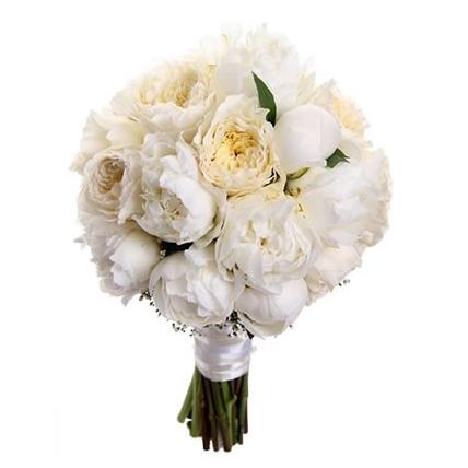 Букет с пионами и пионовидными розами Остина №79