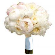 Букет с пионами и пионовидными розами Остина №80