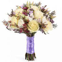 Букет из роз с эустомой №100
