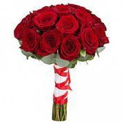 Свадебный букет из бордовых роз №101