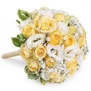 Свадебный букет невесты из роз и лизиантуса №103