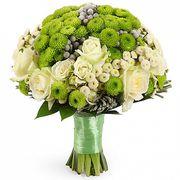 Свадебный букет невесты из роз и хризантем №106