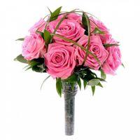 Свадебный букет невесты из розовых роз №112