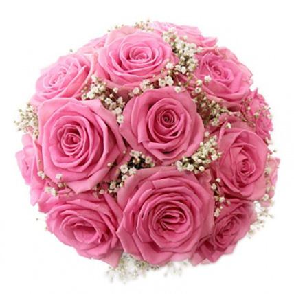Свадебный букет невесты из розовых роз №113