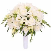 Свадебный букет невесты из роз и фрезии №115