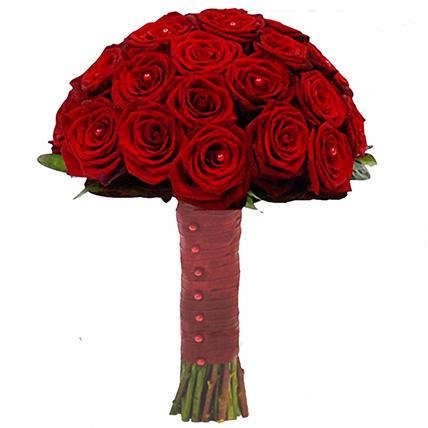 Букет из бордовых роз №118