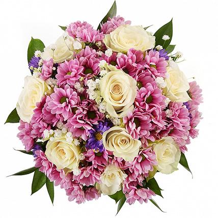 Свадебный букет невесты из роз и хризантем №119