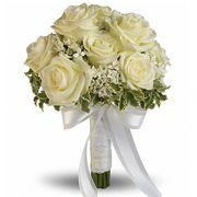 Свадебный букет невесты с белыми розами №124