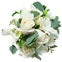Свадебный букет невесты из роз и фрезий №125