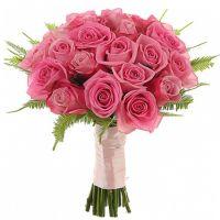 Букет из розовых роз №126