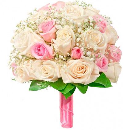 Свадебный букет невесты из роз №131