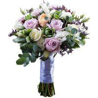 Букет с розами и эустомой №132