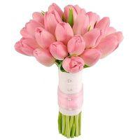 Букет из розовых тюльпанов №134