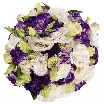 Свадебный букет невесты из лизиантусов №138