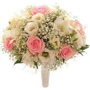 Свадебный букет невесты из лизиантусов и роз №141