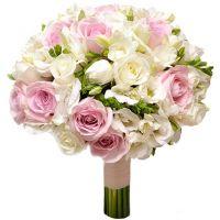 Свадебный букет невесты из эустомы с розами №142