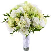Свадебный букет невесты из лизиантусов и роз №144