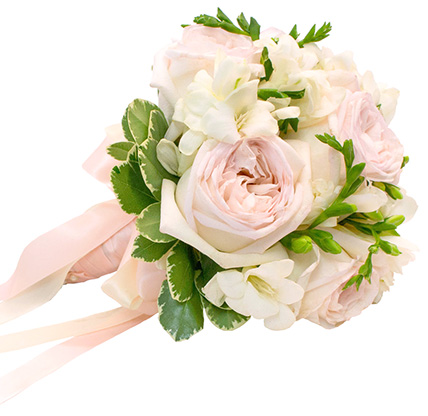 Букет с пионовидными розами №146