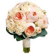 Свадебный букет невесты с пионовидными розами №147