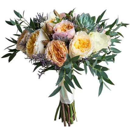 Букет с пионовидными розами №155