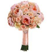 Свадебный букет невесты с пионовидными розами №159
