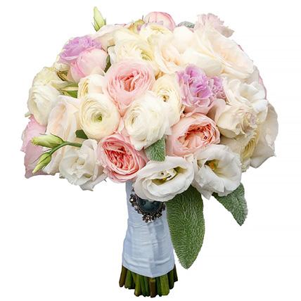 Свадебный букет невесты с пионовидными розами №160