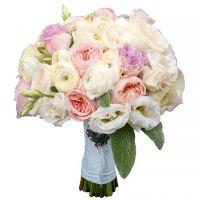 Свадебный букет с пионовидными розами №160