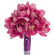 Букет с розовыми орхидеями №163