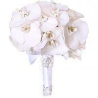 Букет с белыми орхидеями «Фаленопсис» №164