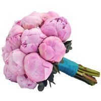 Букет из розовых пионов №168