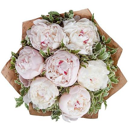 Букет нежно-розовых пионов «Снежана»