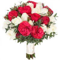 Букет с пионовидными розами «Моя ягодка»