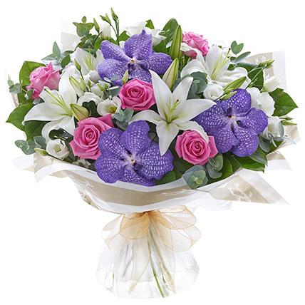 Букет лилий с орхидеями «Мари»