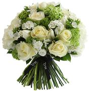 Букет с флоксами и розами «Мартини»