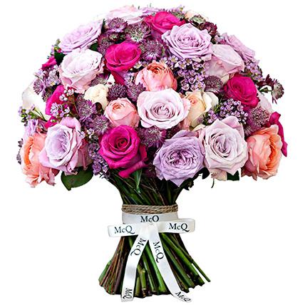 Букет с пионовидными розами «Селин»