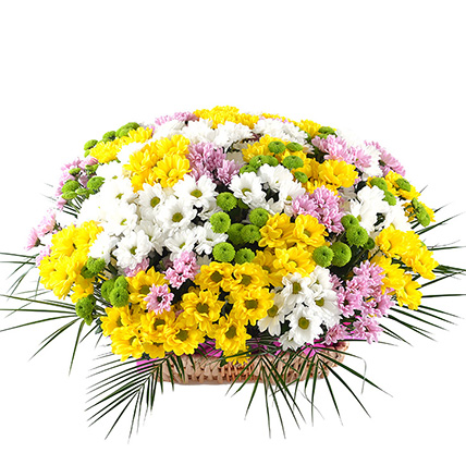 Корзина с цветами «Раздолье»